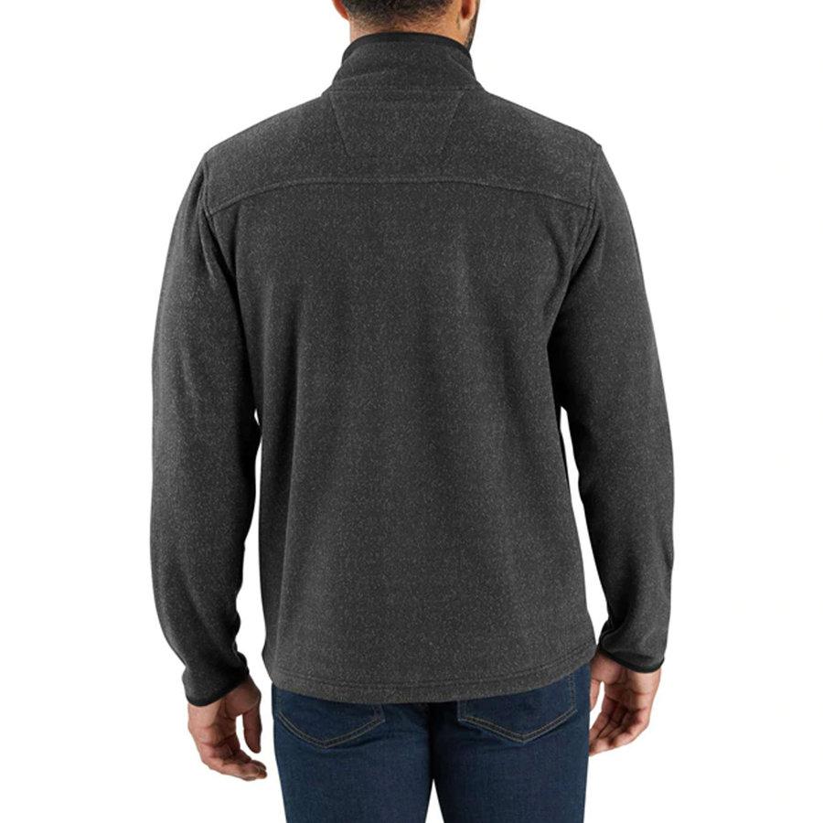 Dalton Full Zip Black Heather Fleece Vest Heren