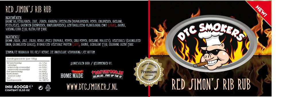 DTC Smokers Red Simon's Rib Rub!