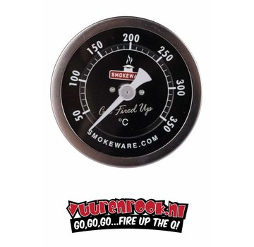 Smokeware SmokeWare RVS Thermometer Zwart ℃ 82mm
