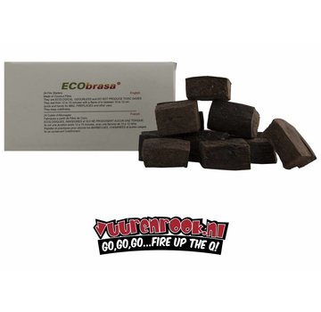 Ecobrasa Ecobrasa Coconut Eco Fire Blocks 24 stuks