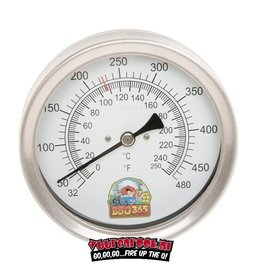 bbq365 BBQ365 RVS Thermometer 125mm