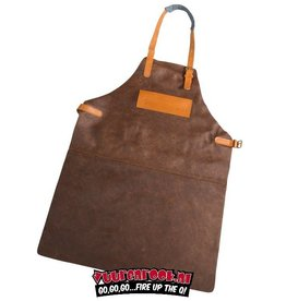 Vuur&Rook Leather BBQ Apron (Brown)