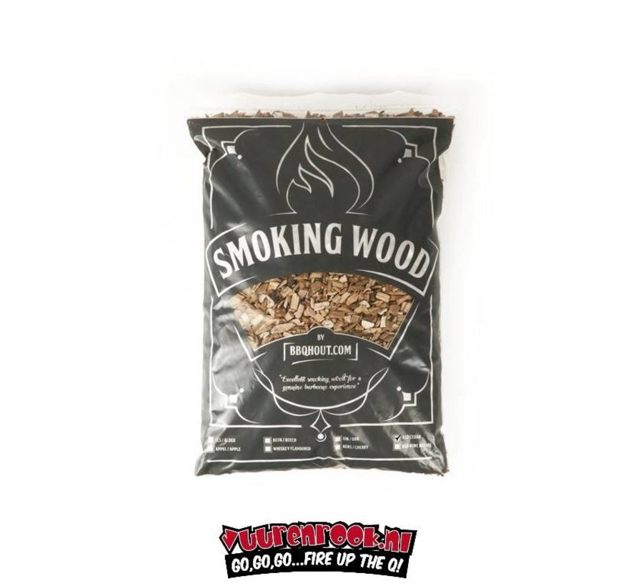 BBQHout.com Red Cedar Rookchips 1 kilo