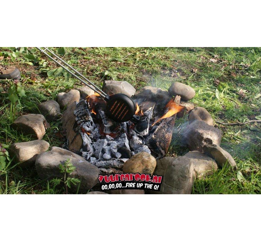 Vuur en Rook  vorgewürztes Gusseisen Hamburger Eisen (Edelstahlstahl)