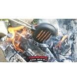 Vuur en Rook Pre-Seasoned Cast Iron  Hamburger Iron (RVS stelen)