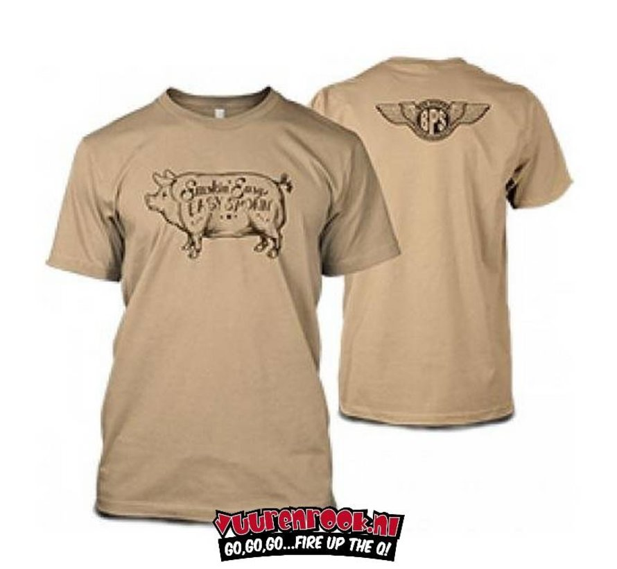 Smokin' Easy Big Poppa Smokers Pig T-Shirt Large