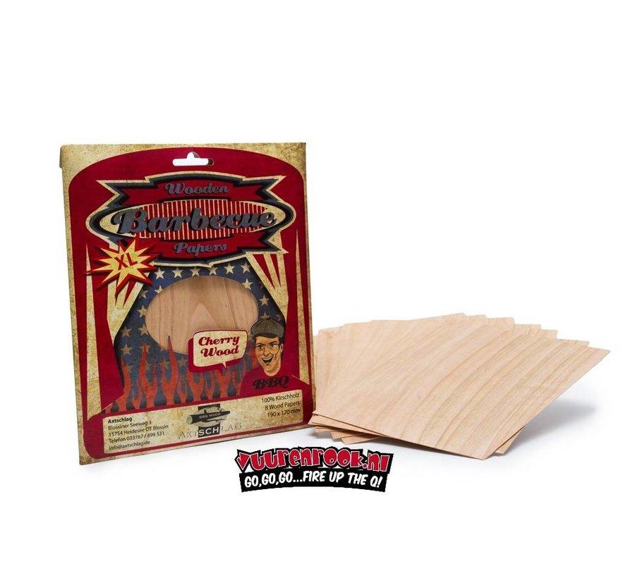 Axtschlag Wood Papers Cherry XL 8 Stück