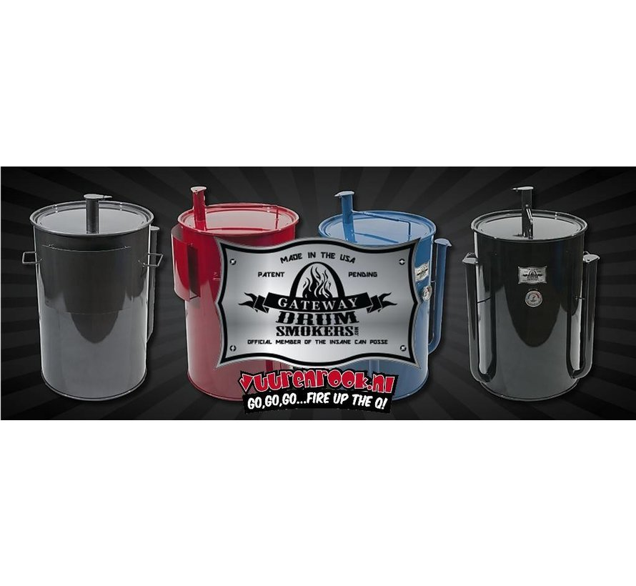 Gateway Drum Smokers - 55 Gallon Logo Plate Blauw