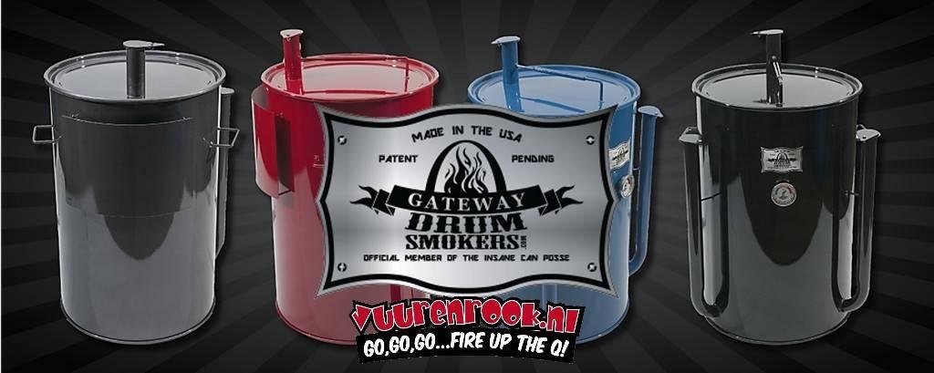Gateway Gateway Drum Smokers - 55 Gallon Logo Plate Blau
