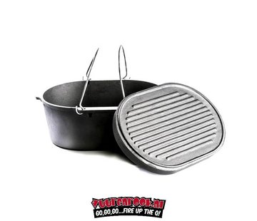 Valhal Valhal Outdoor Dutch Oven 7.9Quarts / 9ltr with Grill Plate