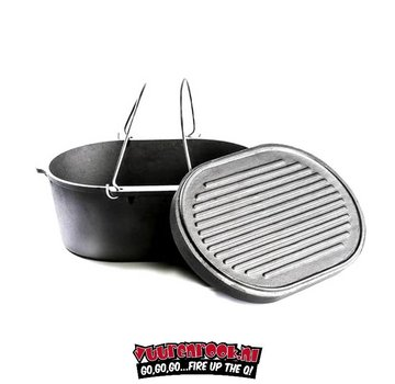 Valhal ValHal Dutch Oven 7.9Quarts / 9ltr with grill plate