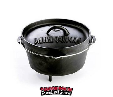 Valhal Valhal Outdoor Dutch Oven 2.8 quarts / 3 liters with legs