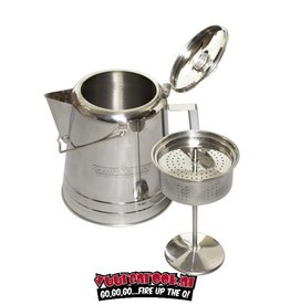 Campchef CampChef Stainless Steel Coffee Pot 28 Cup (28 kops RVS Percolator)