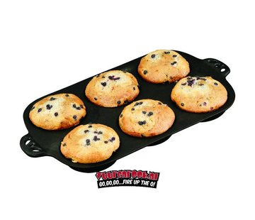 Campchef CampChef Cast Iron Muffin Toppers Biscuit Pan