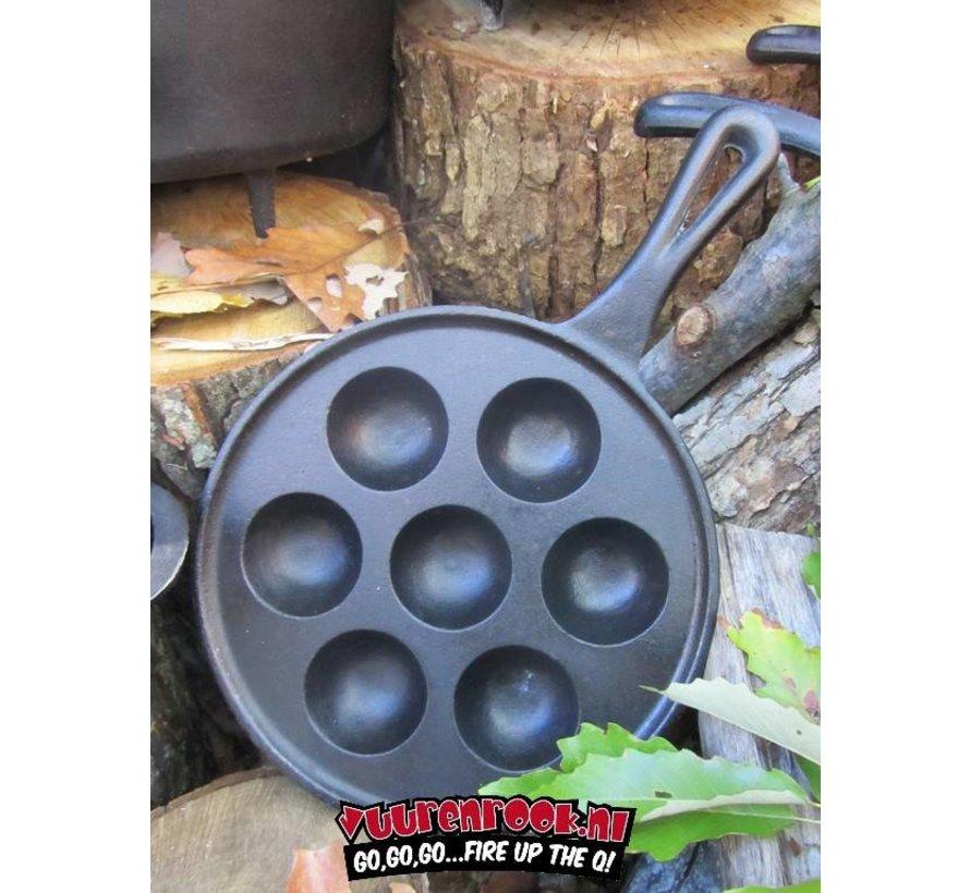 CampChef Gusseisen-Bratpfanne (Gusseisen Poffertjes Pan)