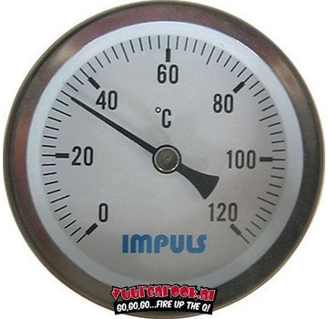 Impuls Impuls Thermometer RVS 60mm