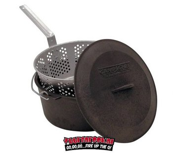 Campchef Campchef Bak en stoompot (Frituur/Stoofpan) 7 liter inclusief alu mand
