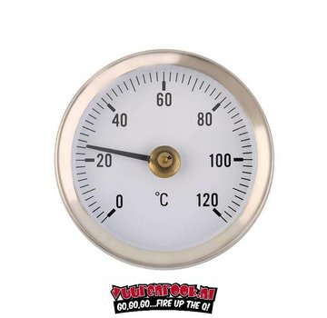 Vuur&Rook Vuur&Rook Stainless Steel Thermometer 60mm