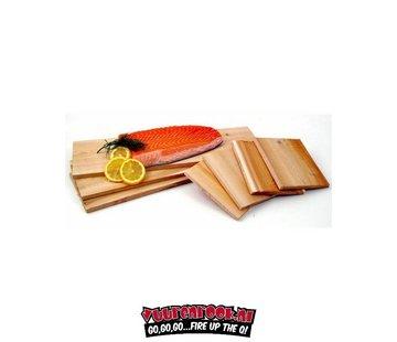 Vuur&Rook Cedar Salmon Smoking Plank 12 stuks Horeca Deal