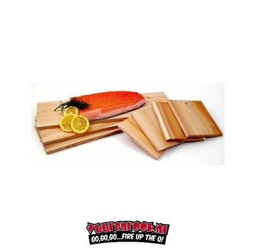 Vuur&Rook Cedar Salmon Smoking Plank 12 stuks Horeca Deal