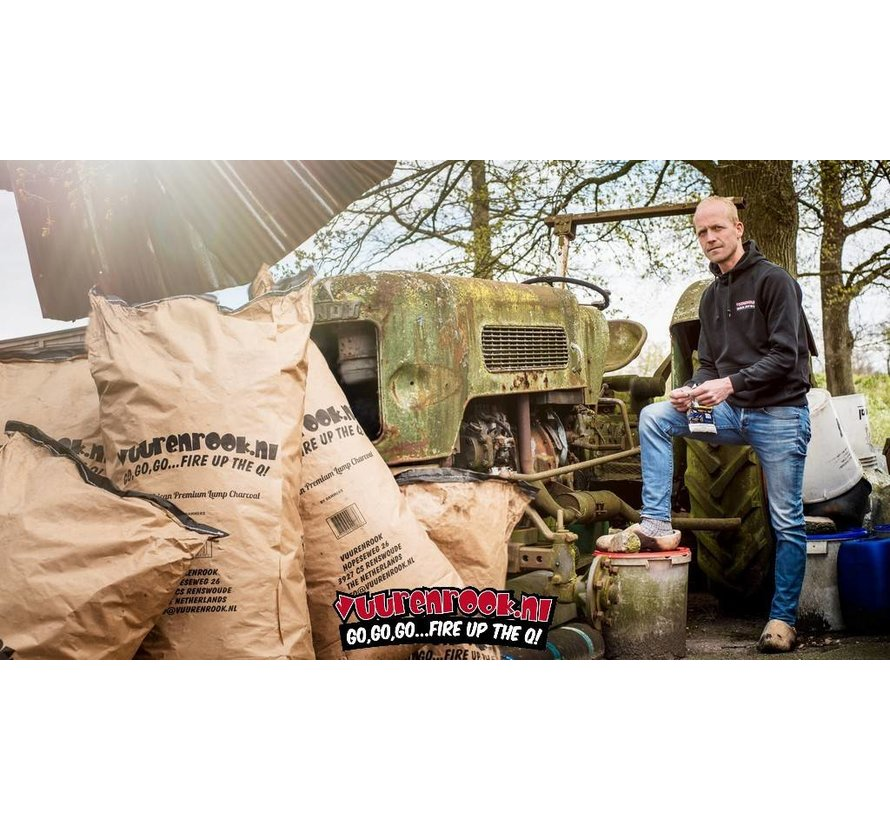 Vuur&Rook South African Premium Lump Charcoal 100% Black Wattle by Dammers 10 kg