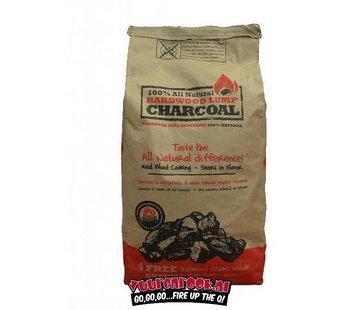 All Natural All Natural Hardwood Lump Charcoal 4,5 kilo + Gratis Fatwood Sticks