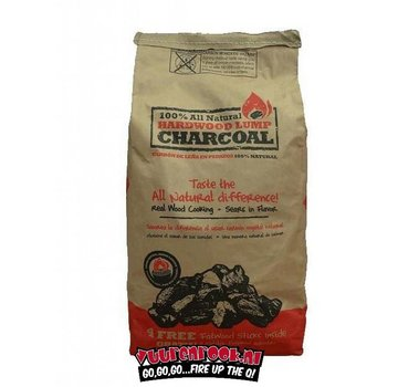 All Natural All Natural Hardwood Lump Charcoal 4.5 kilos + Free Fatwood Sticks
