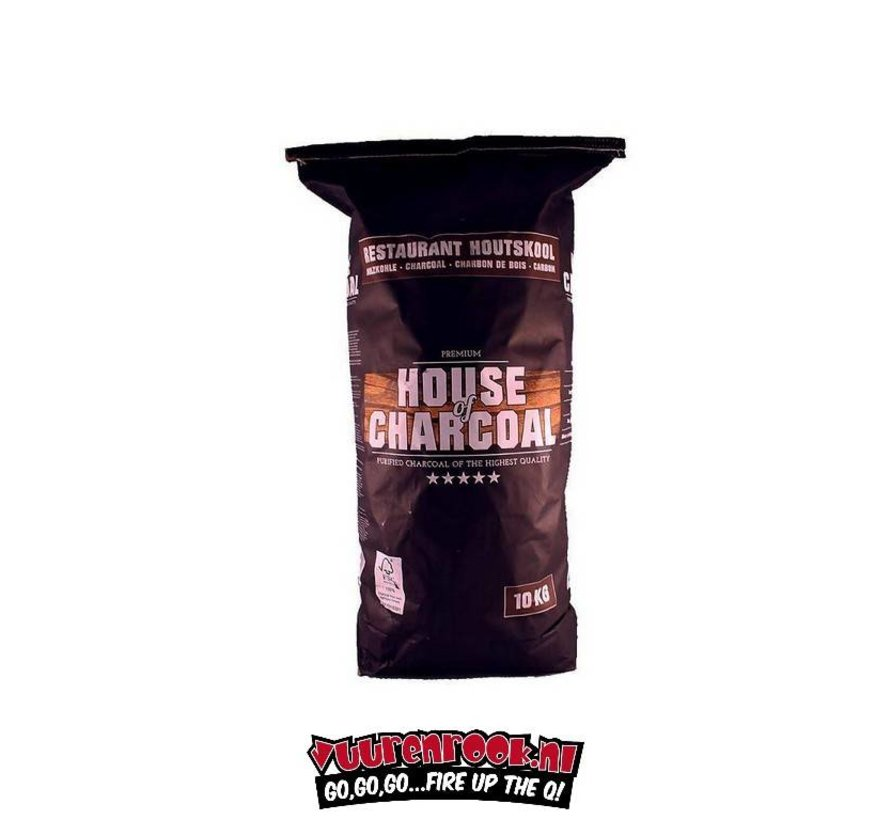 House of Charcoal Horeca Acacia South Africa Black Wattle Charcoal 10 kg
