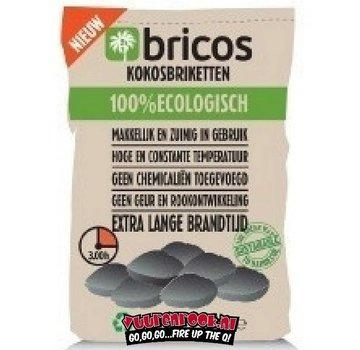 Bricos Bricos Kokosnussbriketts 3 Kilo AA (Pillow Shape)