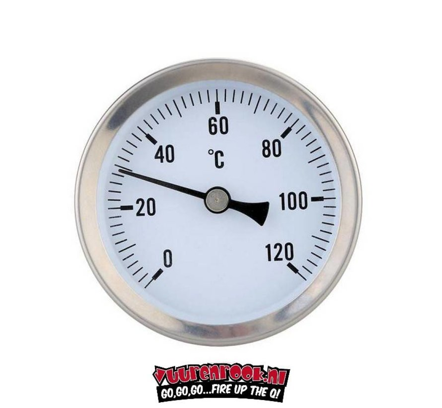 Smoki Thermometer RVS  0-160℃ 80mm