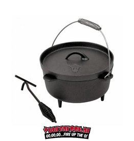 Bull Dutch Oven 4Quarts with CoolGripp and Xtra high legs + FREE Member hitchhiker