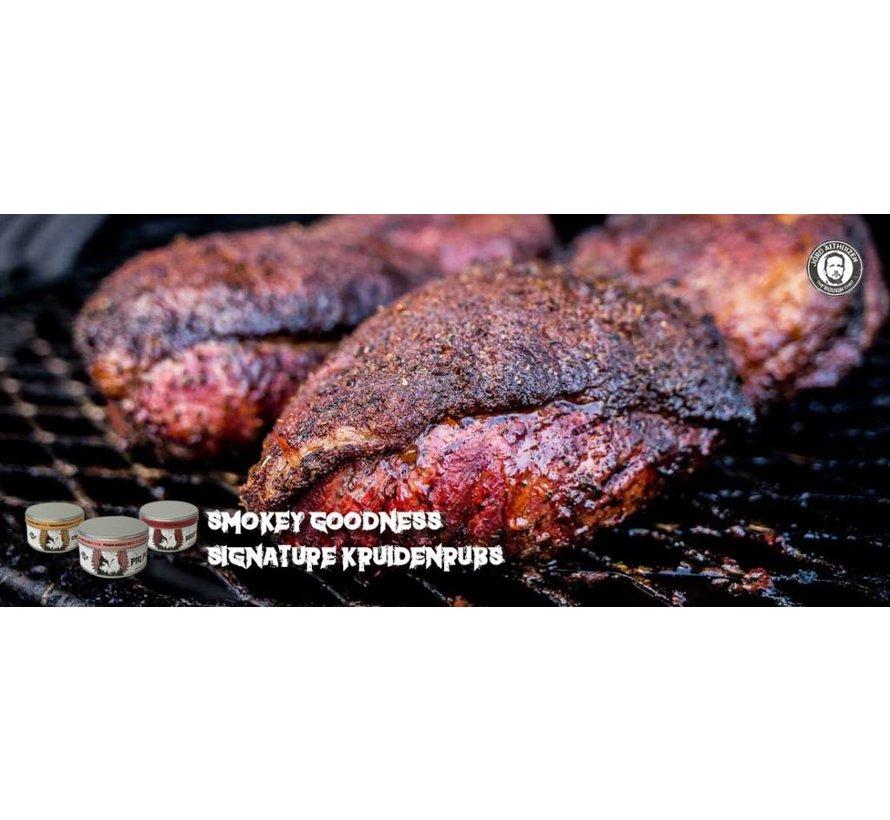Smokey Goodness Holy Smoke That's Hot! Premium BBQ Saus