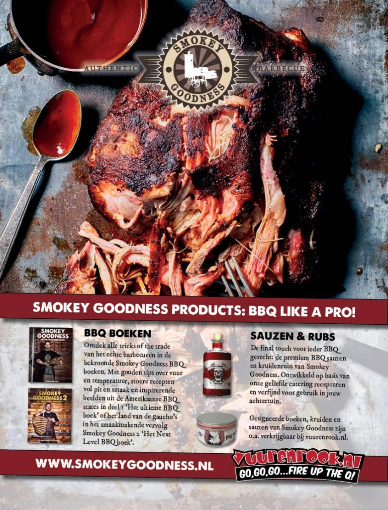 Smokey Goodness Smokey Goodness 2 Het Next Level BBQ Boek GESIGNEERD!