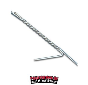 Stainless Steel Smoke Hook 2 Tooth Straight With Corner 4kg