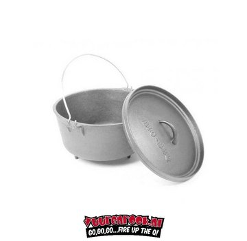 Big BBQ Big BBQ 6Quarts / 5,7ltr Dutch Oven Combo Pack met pootjes