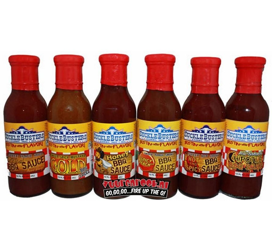 SuckleBusters Hot & Spicy BBQ Sauce 12oz