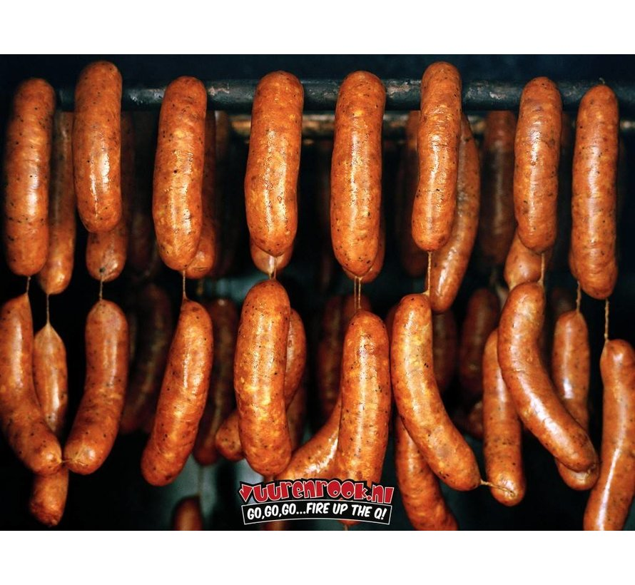 Texas BBQ Worst Cheddar / Groene Jalapeño 10x 80 gram