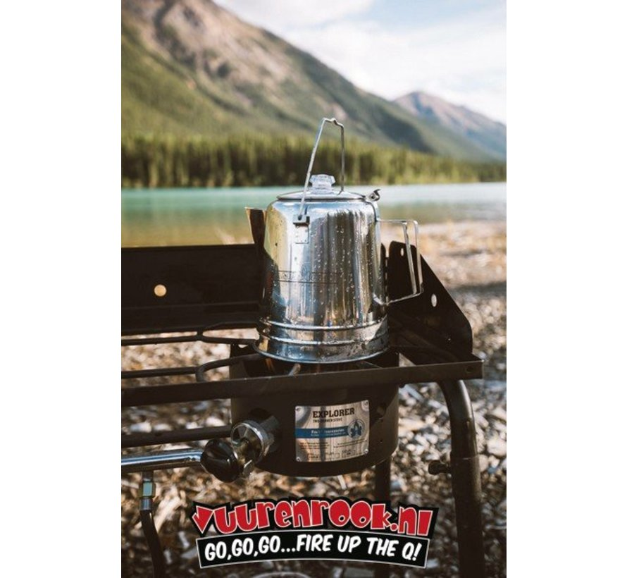 CampChef Stainless Steel Coffee Pot 28 Cup (28 kops RVS Percolator)