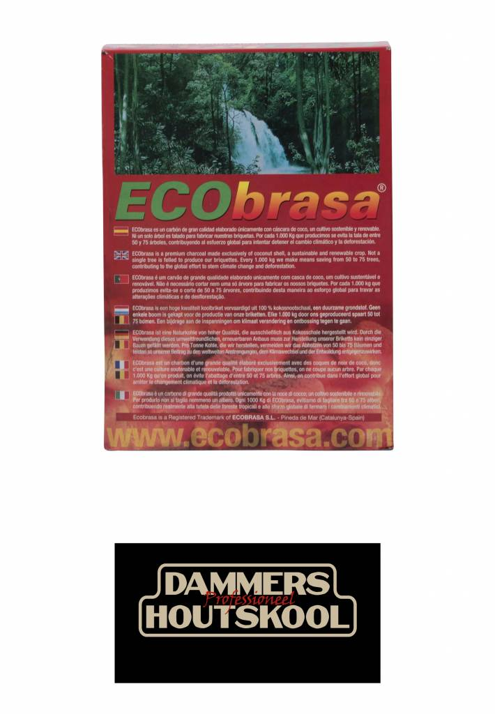 Ecobrasa  kokosbriketten 10 kilo (cubes)