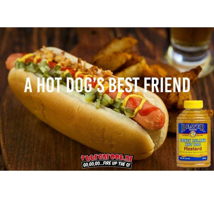 Beaver Brand Coney Island Hot Dog Mustard