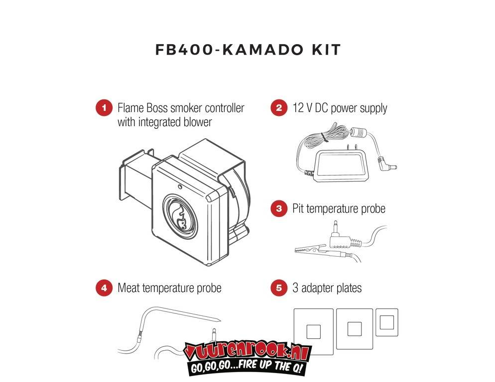 Flame Boss Flame Boss 400-WiFi Kamado Smoker Controller