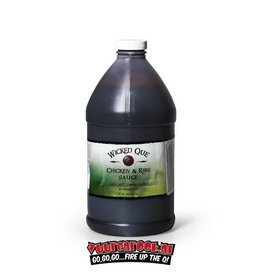 Wicked Que Chicken & Ribs Sauce  1/2 Gallon
