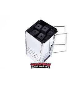 Mc Brikket McBrikket RVS Brikettenstarter Opvouwbaar 1,5 kilo