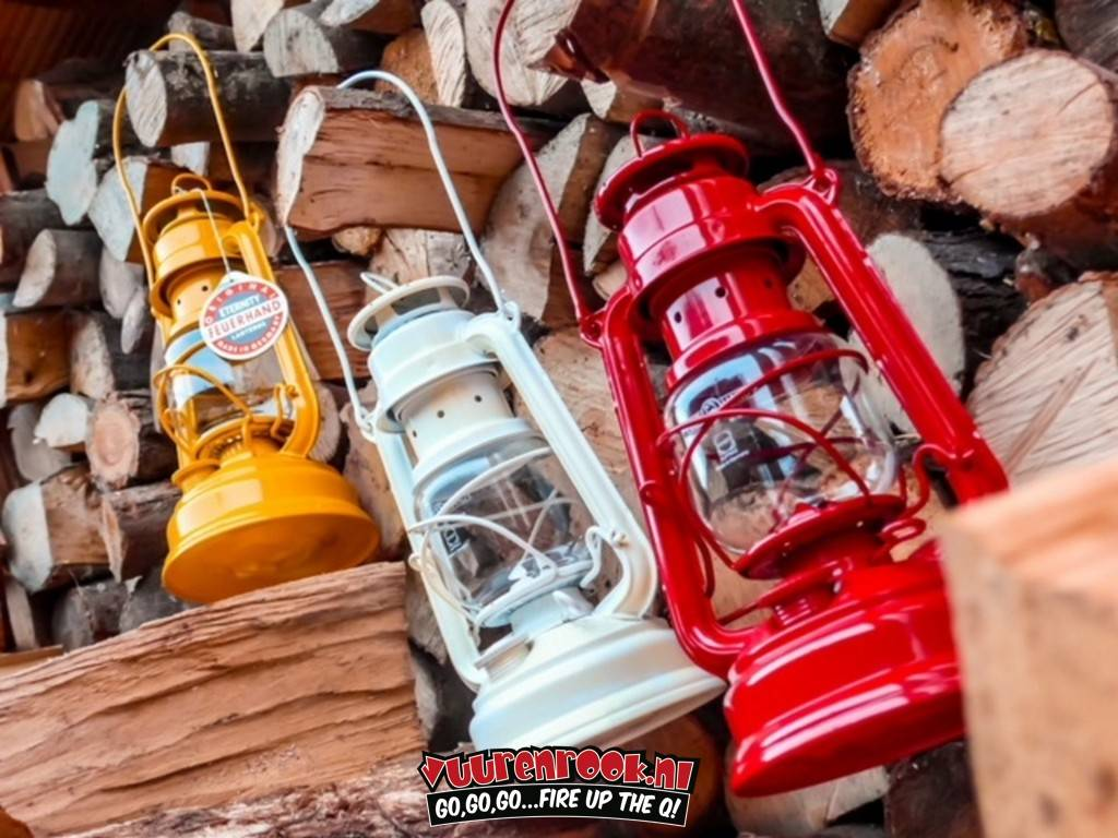 Original Feuerhand Stormlantaarn Signaal Rood