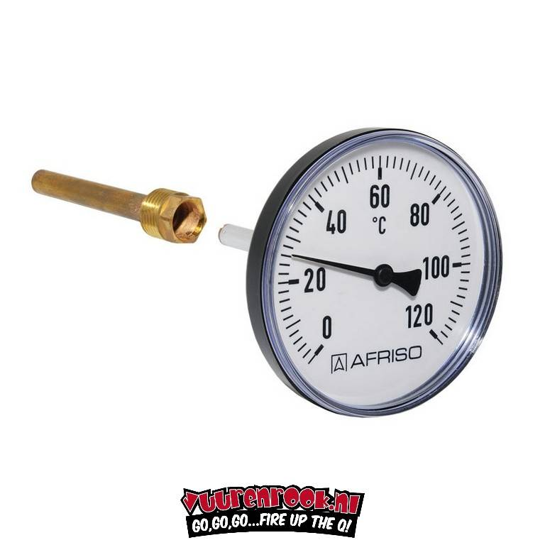 Afriso Afriso Thermometer stainless steel 62mm
