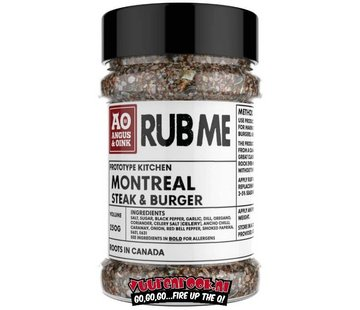 Angus & Oink Angus&Oink (Rub Me) Montreal Steak & Burger Seasoning
