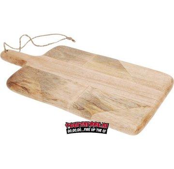 Vuur&Rook Mango-Holzschnitt- / Servierbrett mit Griff