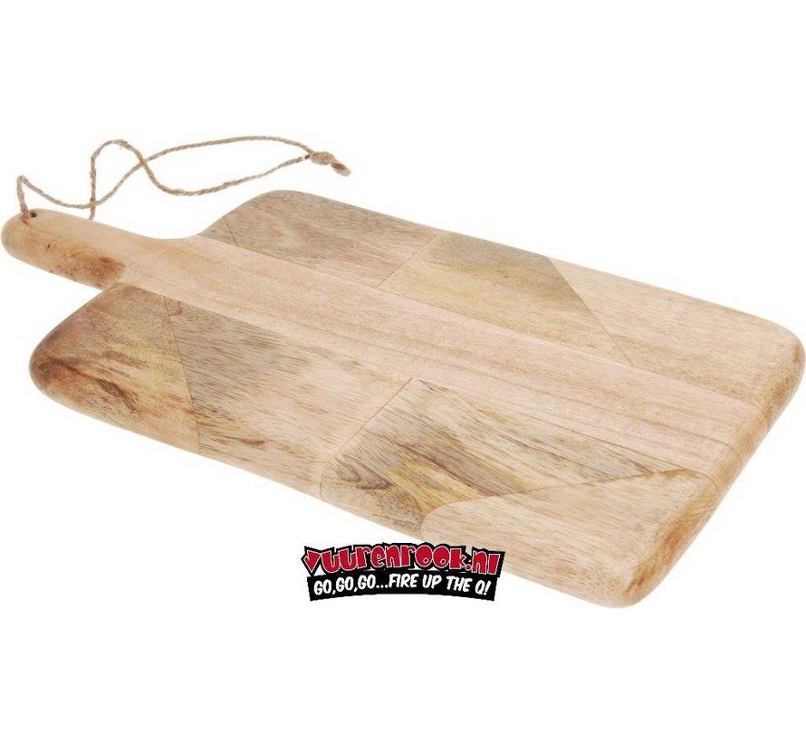 Mango Houten Snij/Serveerplank met Handvat
