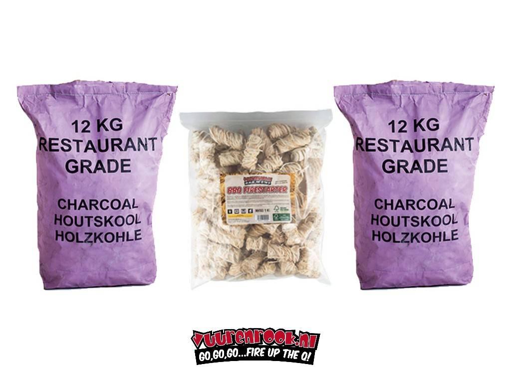 Vuur&Rook Vuur&Rook South African Restaurant Grade Lump Charcoal 100% Black Wattle Combodeal