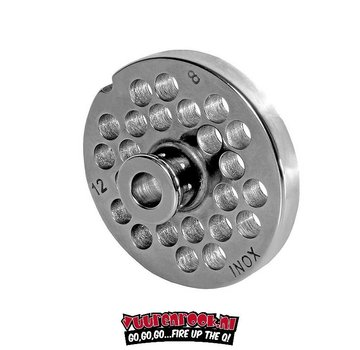 Wolfcut Wolfcut Germany Enterprise 10/12 Stainless Steel Plate with Navel 8 mm